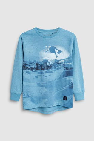 a83d355b Buy Long Sleeve Skate T-Shirt (3-16yrs) from the Next UK online shop