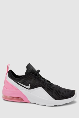 size 40 e9856 47982 Nike Black/Pink Air Max Motion II Youth Trainers