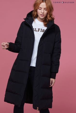 Buy Tommy Hilfiger Black Amber Sleeping Bag Coat from Next Ireland 02f48c2a0a