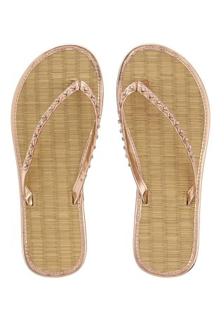 67a30b005 Buy Accessorize Metallic Bead Seagrass Flip Flop from the Next UK ...