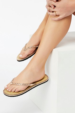 8aab90af9 Buy Accessorize Black Seagrass Flip Flop from Next Bahrain