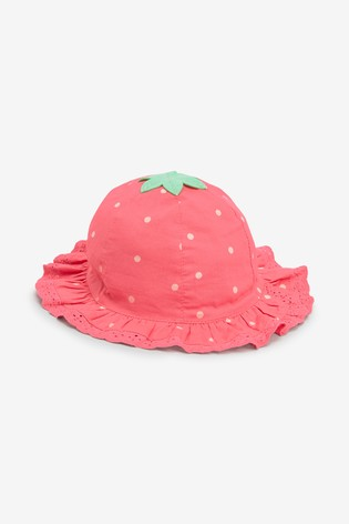 be4759a90 Pink Strawberry Sun Hat (0mths-2yrs)