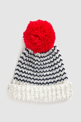 Buy Mix Rose And Rose Stripe Bobble Hat from the Next UK online shop a829b4f5eee