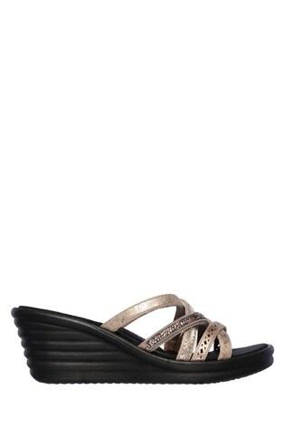 elegant and graceful genuine discount up to 60% Skechers® Black Rumbler Wave New Lassie Sandal