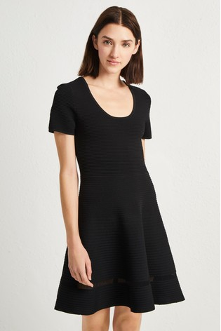 81cb5b8658 Buy French Connection Black Crepe Knit Dress from the Next UK online ...