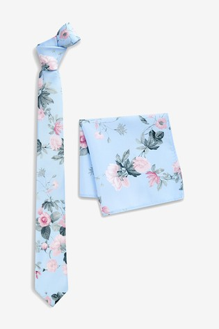 d829297f71fd9 Buy Floral Tie And Pocket Square Set from the Next UK online shop
