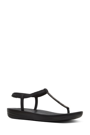 aa879566b56d6 Buy FitFlop™ Black Sparkle Bella iQushion™ Sandal from the Next UK ...