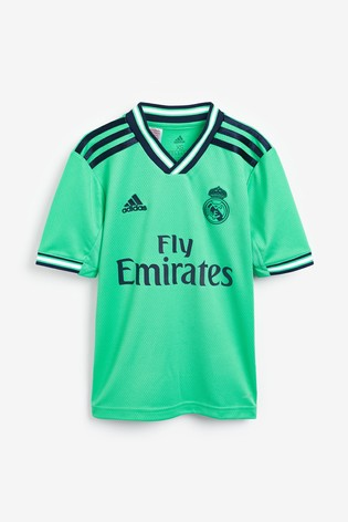 new product 93951 09fc0 adidas Green Real Madrid 2019/2020 3rd Jersey Youth