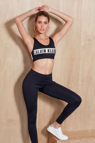 50e37039b62 Buy Calvin Klein Performance Black High Support Sports Bra from Next ...