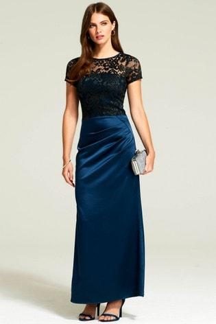 variety design super specials fashion design HotSquash Woodland Teal Sasha Maxi Evening Dress