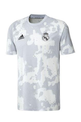 the latest 93562 3f714 adidas White Real Madrid 2019/20 Pre Shirt