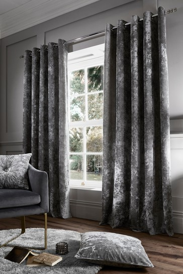 Crushed Velvet Eyelet Curtains By, How To Wash Crushed Velvet Curtains