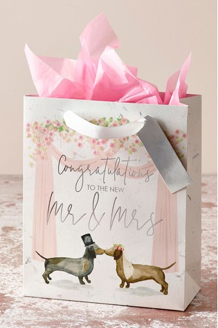 Buy Dachshund Wedding Gift Bag From Next Luxembourg