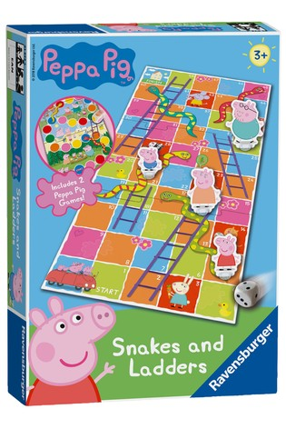 Ravensburger Peppa Pig Snakes And Ladders Game