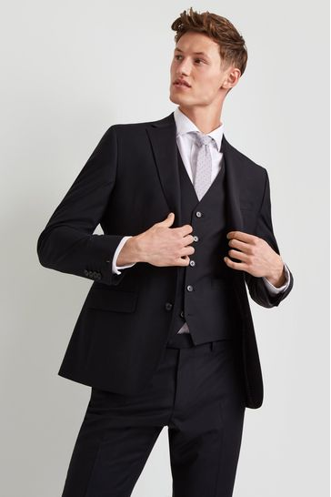 e9b9629064 Buy Moss 1851 Performance Tailored Fit Black Jacket from the Next UK ...