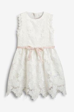 Ecru Lace Dress 3 16yrs