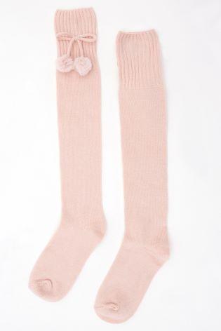 77b053405fc Buy Mint Velvet Nude Over Knee Bow Socks from Next Ireland