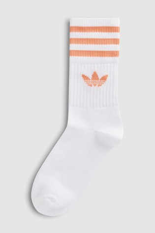 da51817ef0d113 Buy adidas Originals Adults Pink White Crew Socks 2 Pack from the ...