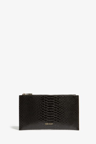f9c0ed0e7d6 Buy Karen Millen Black PU Snake Bag from the Next UK online shop