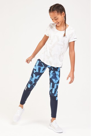 1df3f8167 Buy adidas Performance Lucky Blue Printed Tight from the Next UK ...