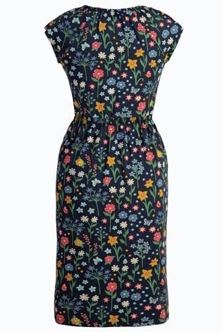 911dbe78a4af6 ... Frugi Organic Floral Jersey Smocked Dress Maternity Or Nursing ...