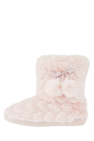 8436ed25ac8 Buy Angels by Accessorize Pink Heart Super Soft Slipper Boot from ...