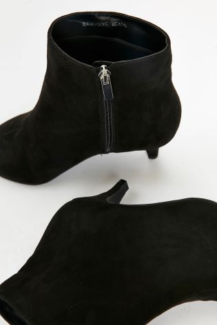 2e8ec5ed7ba6 Buy Evans Black Extra Wide Fit Kitten Heel Ankle Boot from Next Gibraltar
