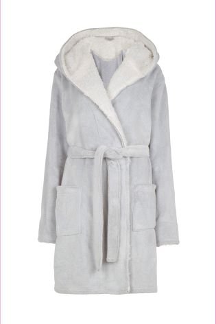 5d4017b398a Buy FatFace Grey Soft Penny Dressing Gown from Next Ireland
