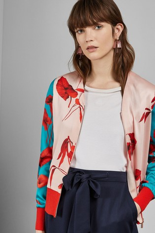 3c5c298f4 Buy Ted Baker Pink Cortnee Fantasia Knitted Bomber from the Next UK ...