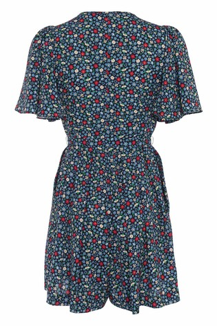 ee643394726 Buy French Connection Blue Eden Crepe Belted Playsuit from Next Ireland