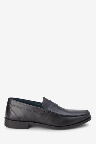 Leather Penny Loafers from the Next UK