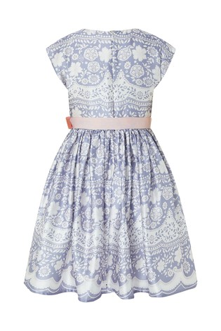 54fe91fff5a8 Buy Monsoon Lilac Otylia Lace Print Dress from the Next UK online shop