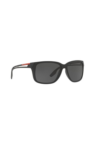 5dfe8bd7b94e Buy Prada Sport Rectangle Matte Black Sunglasses from Next Ireland