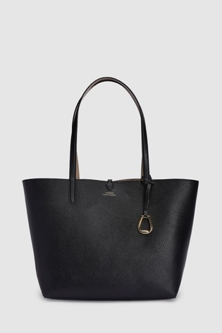 6d3e8228ca4f Buy Polo Ralph Lauren® Black Vegan Leather Tote Bag from the Next UK ...
