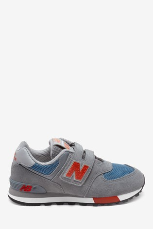 really cheap factory outlet best quality New Balance Leather 574 Youth Trainers
