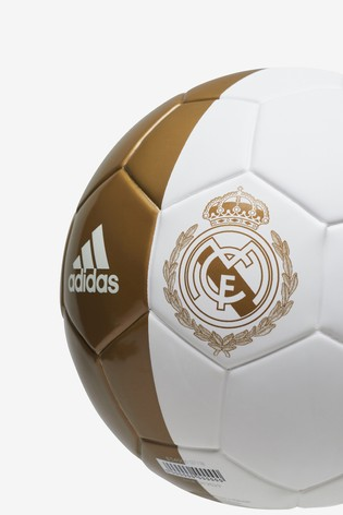 sale retailer 9bd98 a54a6 adidas White Real Madrid FC Mini Football