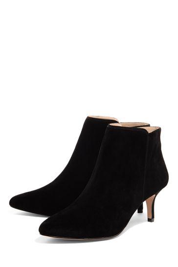 82a78f01320 Phase Eight Black Tasmin Pointed Kitten Heel Boot