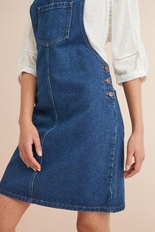 3610dde26 Buy Denim Pinafore Dress from the Next UK online shop