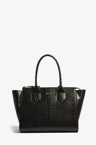 28e4f06ba69 Buy Karen Millen Black PU Snake Bag from Next Ireland