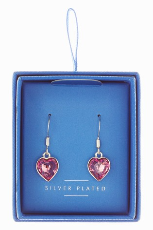 Buy Plated Crystal Heart Earrings With Swarovski® Crystals from the ... b560298efd