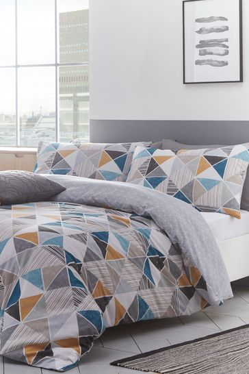 Buy Riva Home Harlequin Geo Duvet Cover And Pillowcase Set From The Next Uk Online Shop
