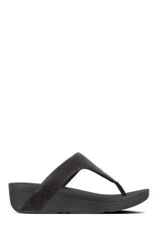 23f764a3b Buy FitFlop™ Black Lottie Toe Post Holiday Glitz Sandal from Next ...