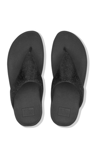 9108d6eb3 Buy FitFlop™ Black Lottie Toe Post Holiday Glitz Sandal from the ...