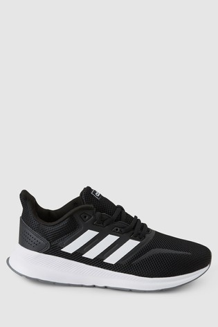 adidas Black/White Run Falcon Trainers