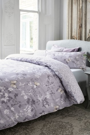 Buy Butterfly Print Duvet Cover And Pillowcase Set From The Next