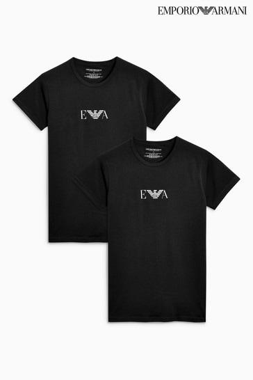 le prix reste stable magasin officiel conception populaire Emporio Armani Lounge T-Shirt Two Pack