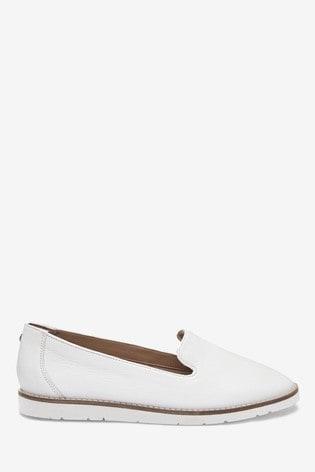 Buy White Leather EVA Slipper Loafers