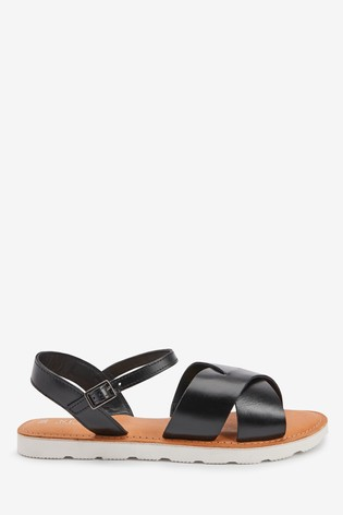 Leather Sporty Sole Sandals from the