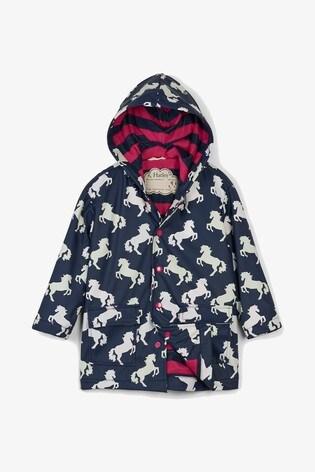 2019 hot sale ever popular 100% satisfaction guarantee Hatley Blue Playful Horses Colour Changing Classic Raincoat
