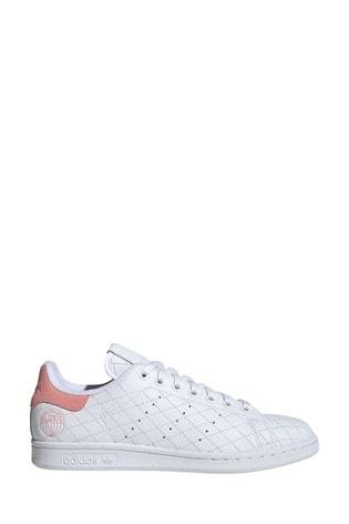Monumento Muy enojado Recepción  Buy adidas Originals White/Pink Stan Smith Trainers from the Next UK online  shop